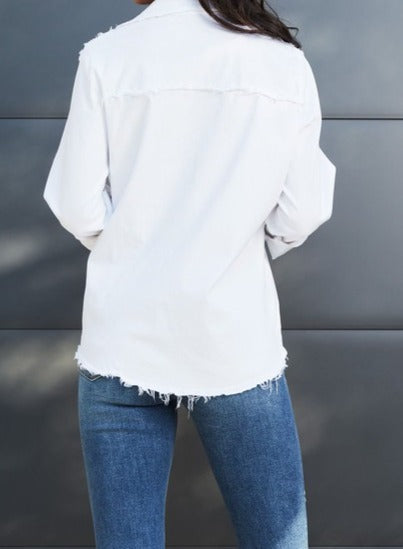 Raw Edge Blouse