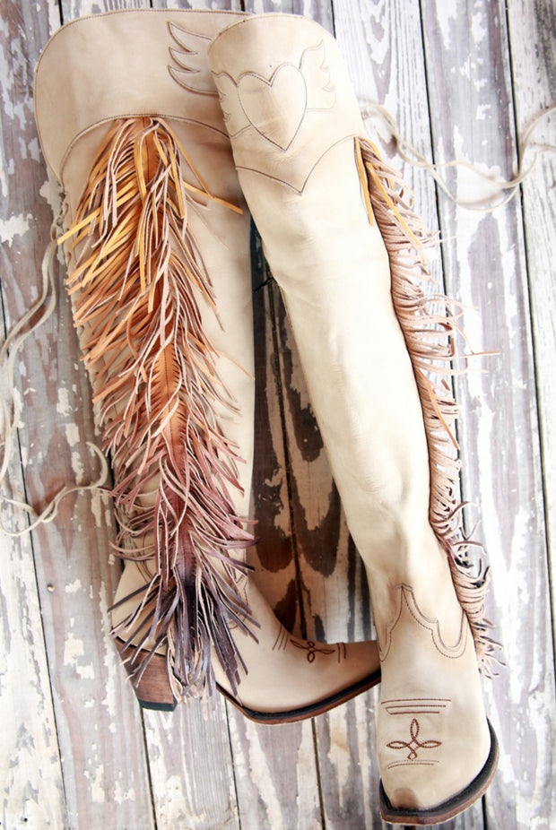 Tall Fringe Cowgirl Boot