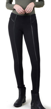 Leather Trim Legging