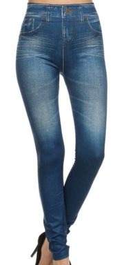 Denim Leggings One Size