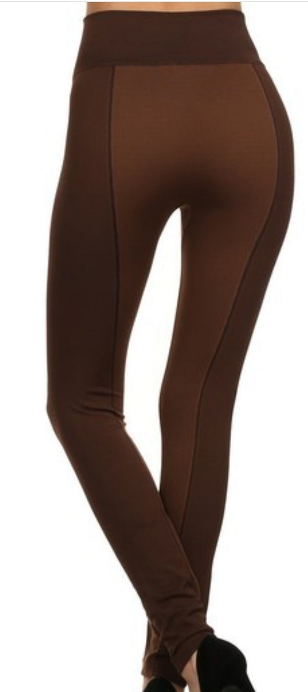 High Waist Legging with Zipper