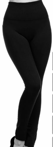 High Waist Fleece Lined Legging. ONE SIZE