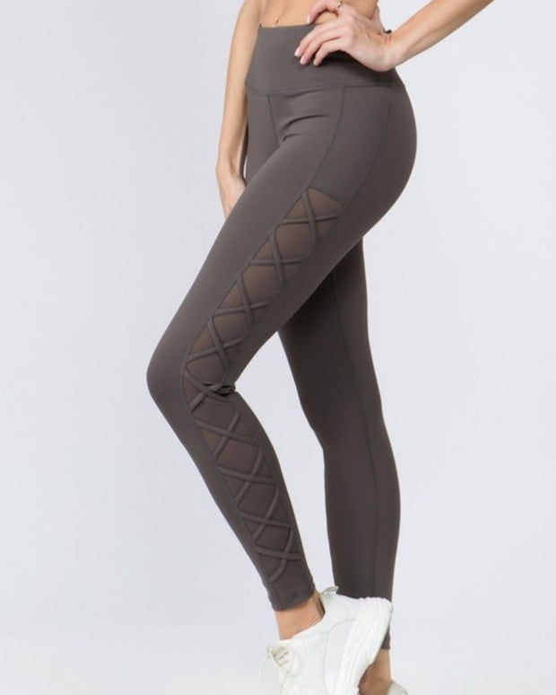 Lace up side legging