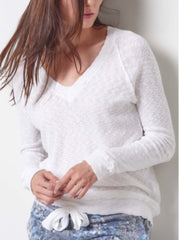 Slub V Neck Sweater