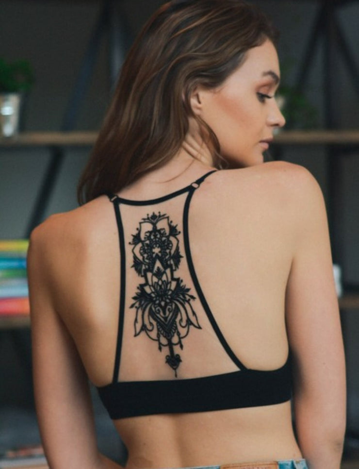 Tattoo Black Bralette