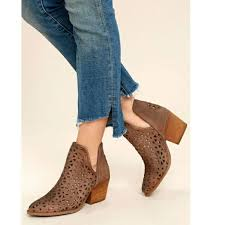 Leather Cut Out Western Bootie