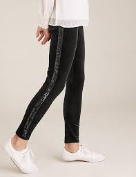 Sequin Trim Legging