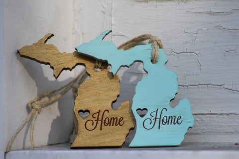 Michigan Home Ornament