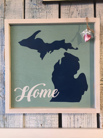 Michigan Home Framed Print