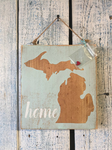 Michigan Home Wood Sign