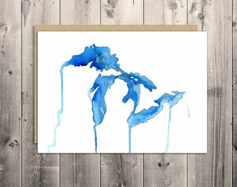 The Living Great Lakes Watercolor Notecard