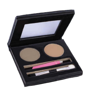 Blonde brow shadow, brow wax, mini tweezer, angle applicator