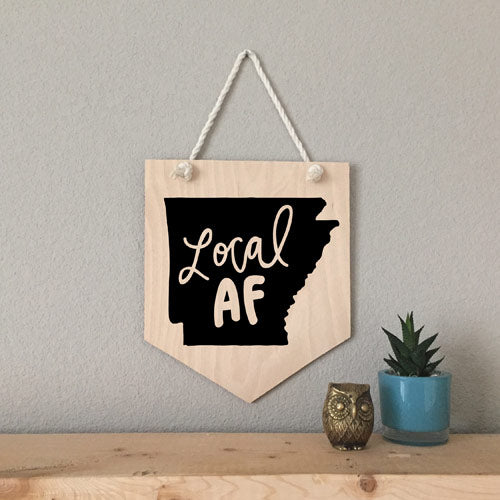 Local AF Wood Pennant Sign - [product type] - Hen Pen Paper Co