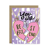 Best Friend (Bestie) Necklace Card - Hen Pen Paper Co