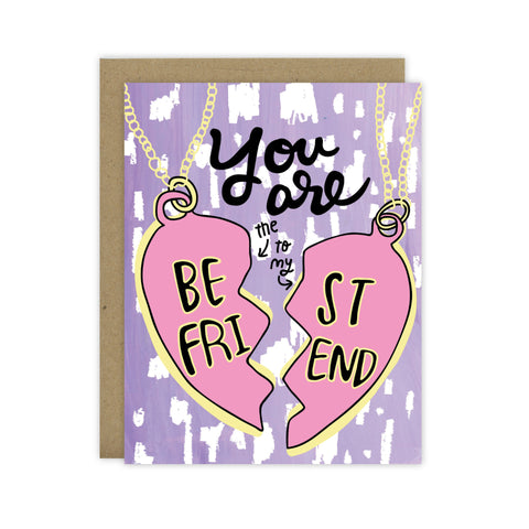 Best Friend (Bestie) Necklace Card - [product type] - Hen Pen Paper Co