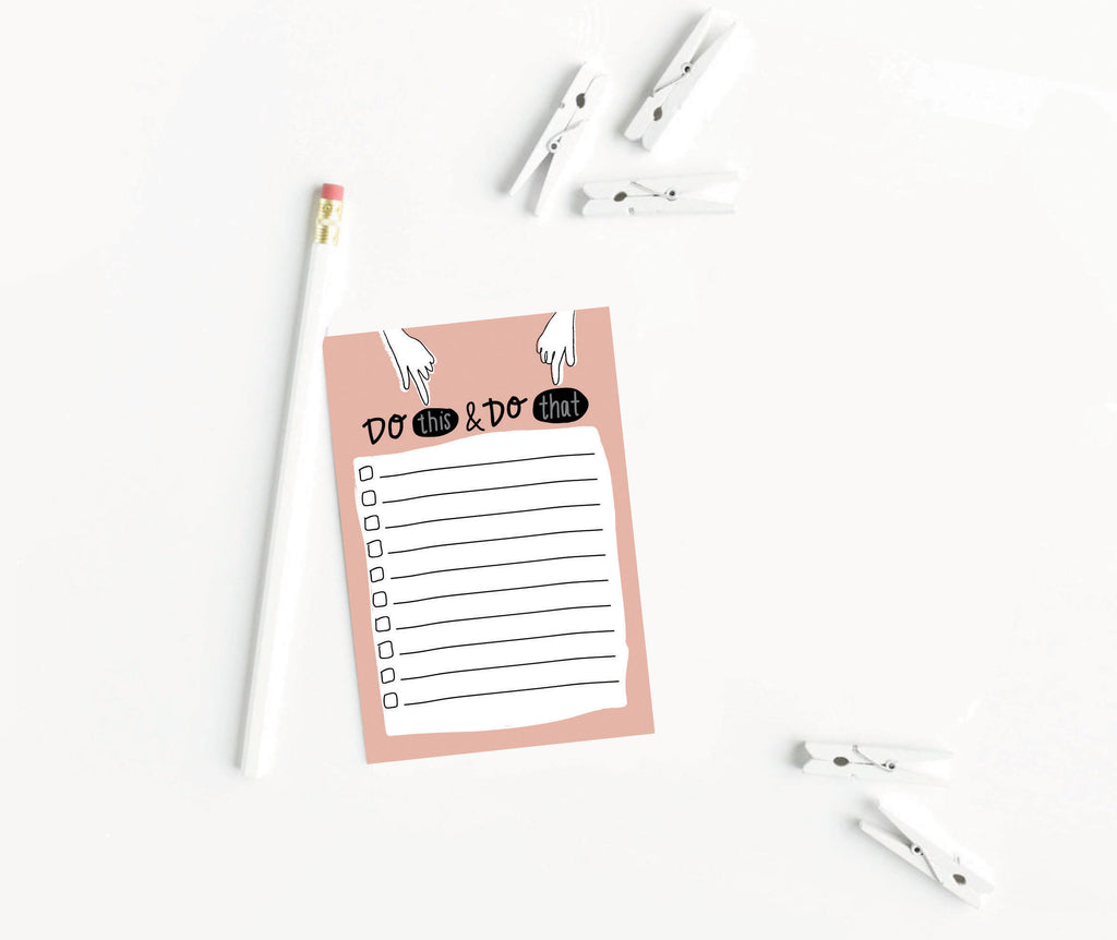 Do This & Do That Notepad - [product type] - Hen Pen Paper Co