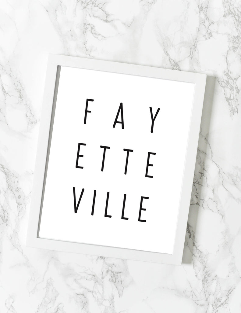 Fayetteville AR Print - [product type] - Hen Pen Paper Co