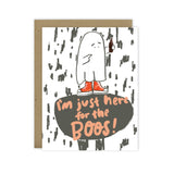 Here for the boos - Halloween Greeting Card