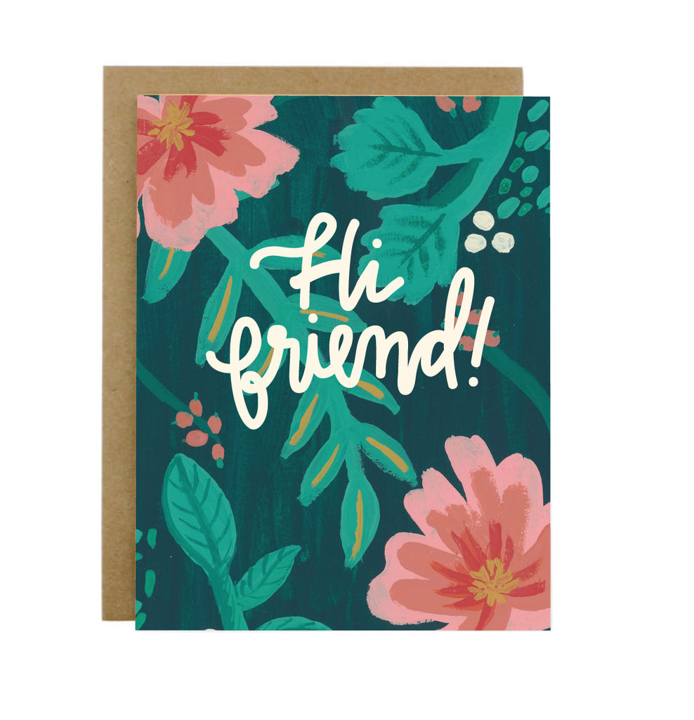 Hi Friend Card - [product type] - Hen Pen Paper Co