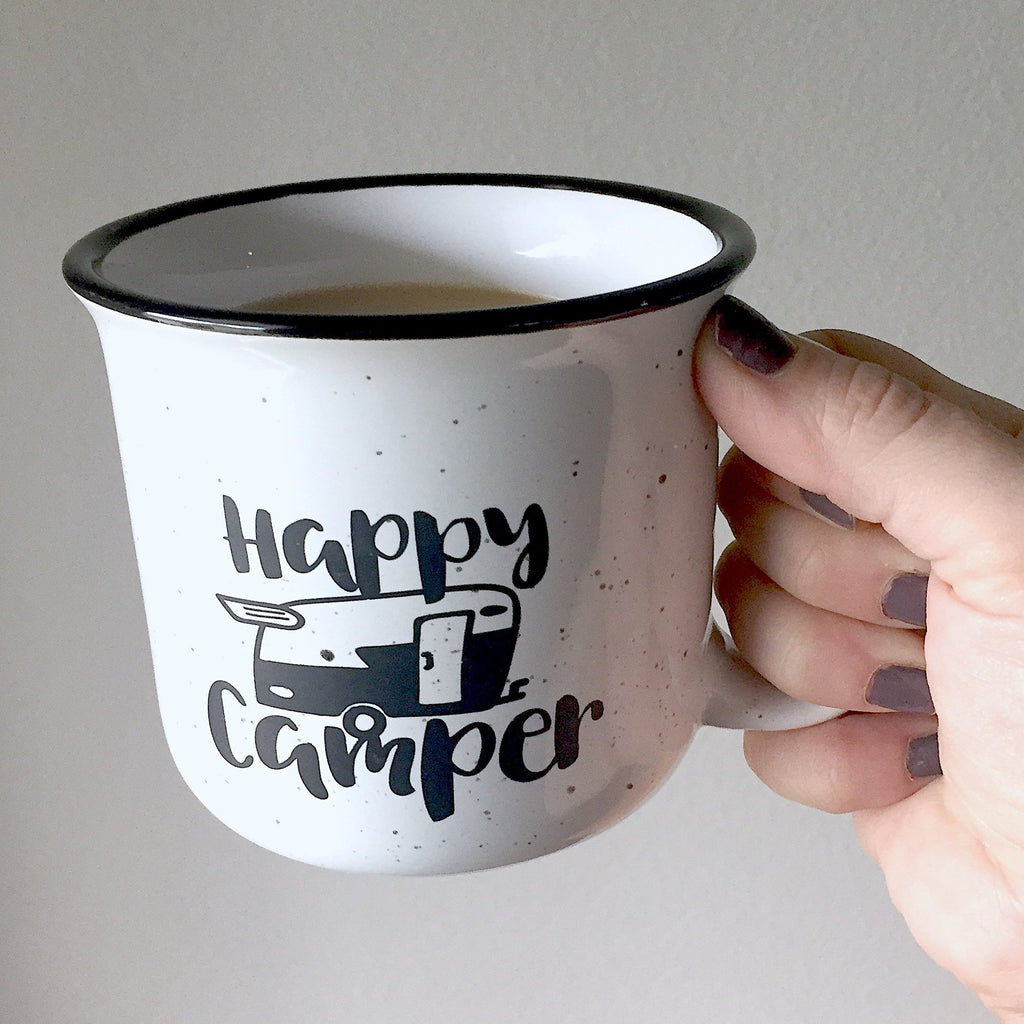 Happy Camper Coffee Mug - [product type] - Hen Pen Paper Co