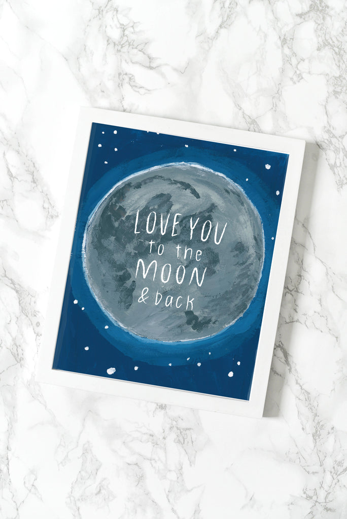 Love You To The Moon Print - [product type] - Hen Pen Paper Co