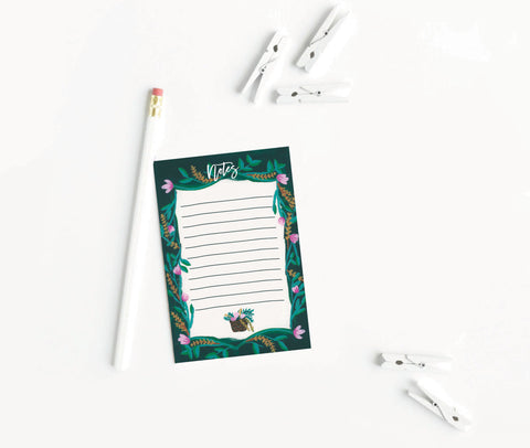 Notes Flower Notepad - [product type] - Hen Pen Paper Co