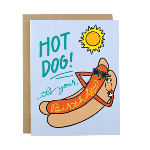 Hot Dog It's Your Birthday - [product type] - Hen Pen Paper Co