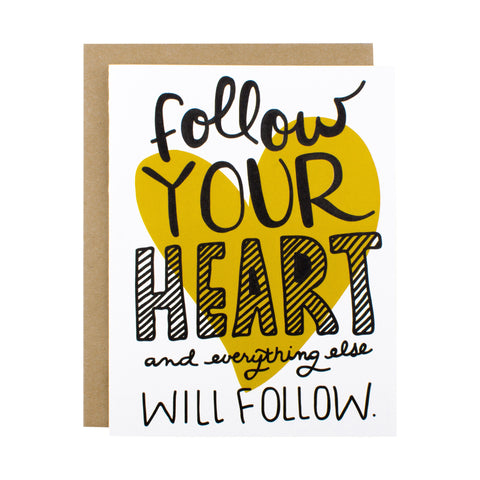 Follow Your Heart - [product type] - Hen Pen Paper Co