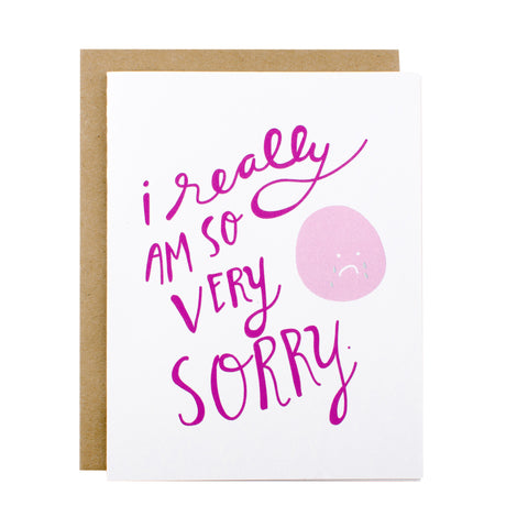 So Very Sorry - [product type] - Hen Pen Paper Co