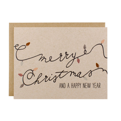Merry Christmas & A Happy New Year - [product type] - Hen Pen Paper Co