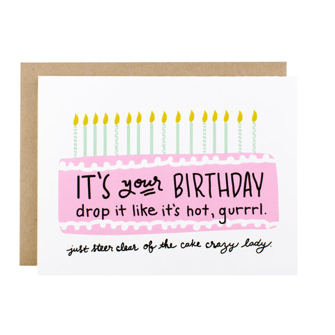 Drop It Like It's Hot Birthday - [product type] - Hen Pen Paper Co