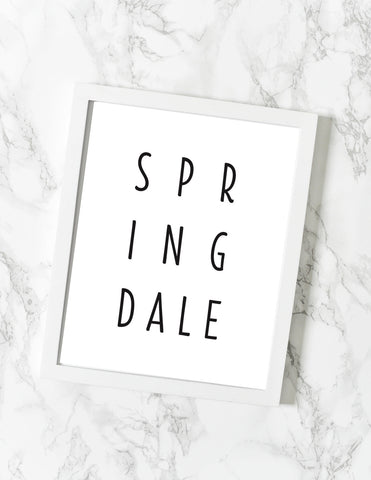 Springdale AR Print - [product type] - Hen Pen Paper Co