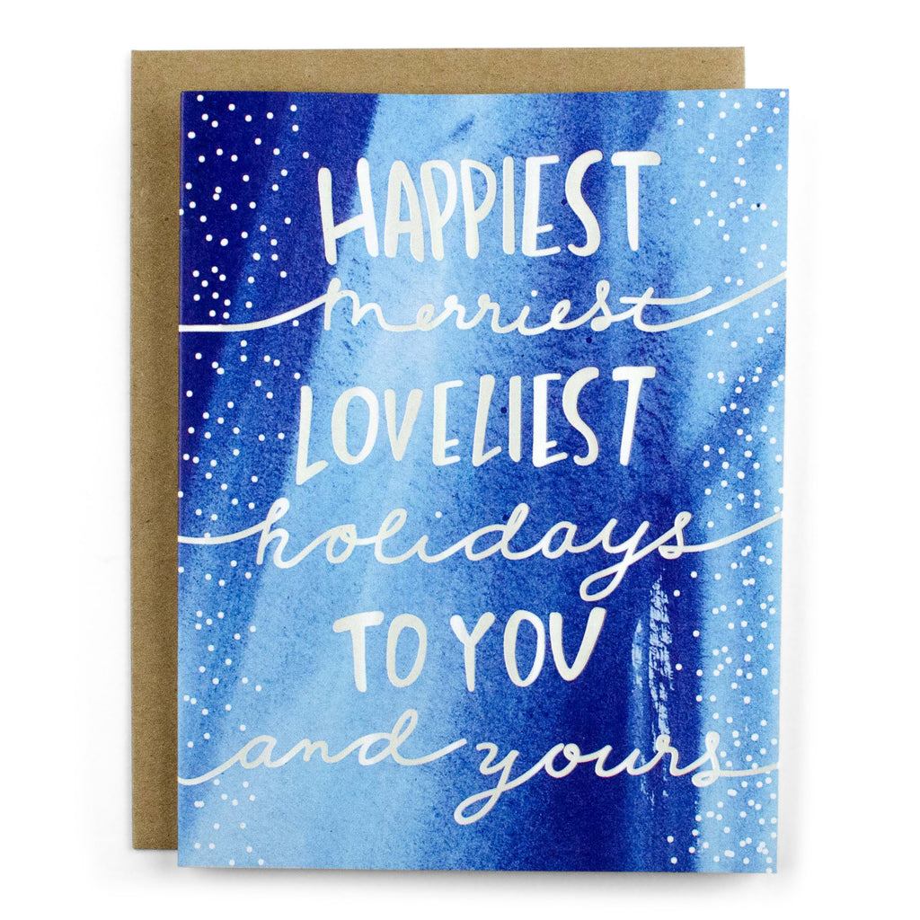 Happiest Merriest Holidays - [product type] - Hen Pen Paper Co