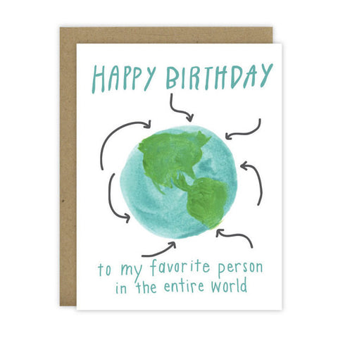 Favorite Person Birthday Card - Hen Pen Paper Co