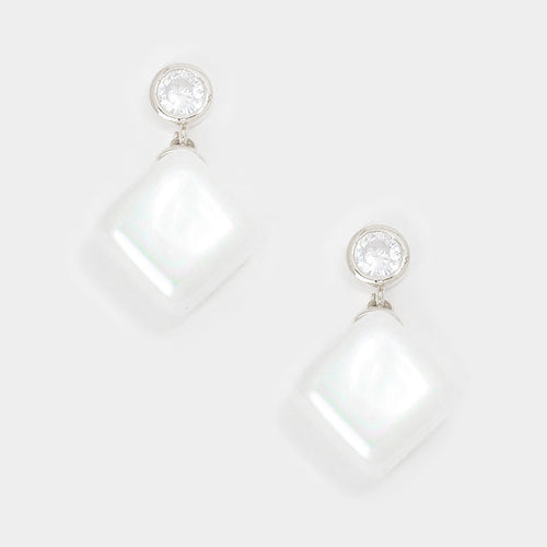 "The ""Cube Pearl"" Earrings"