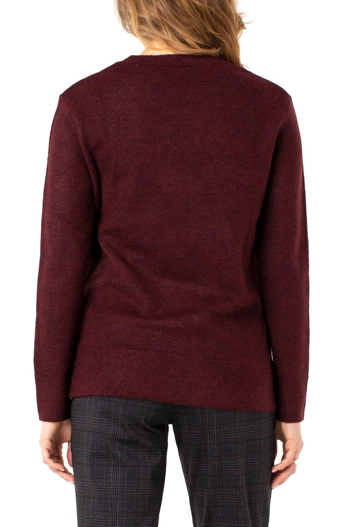 "The ""High Low Crew Neck Sweater"" by Liverpool"