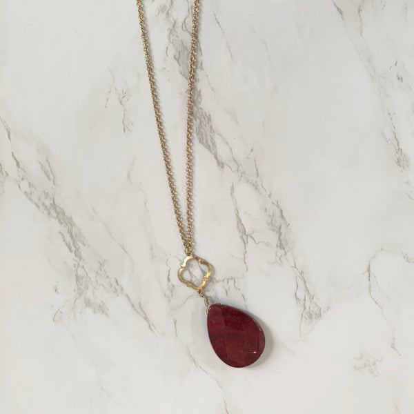 "The ""Ruby Red"" Necklace"