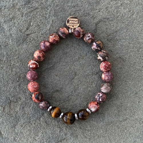 "The ""Leopard Jasper"" Bracelet by Pretty Pink Rooster INSPIRED®"