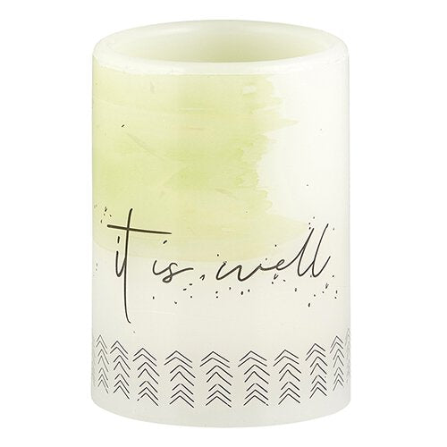 "The ""It is Well"" LED Candle"