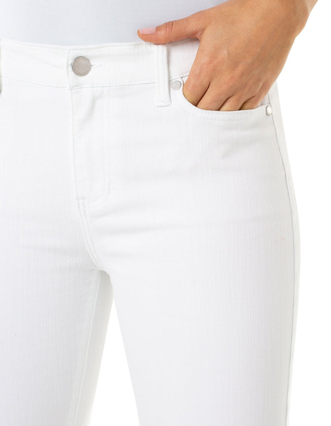 "The ""Penny Ankle Skinny Bright White Jeans"" by Liverpool Jeans"