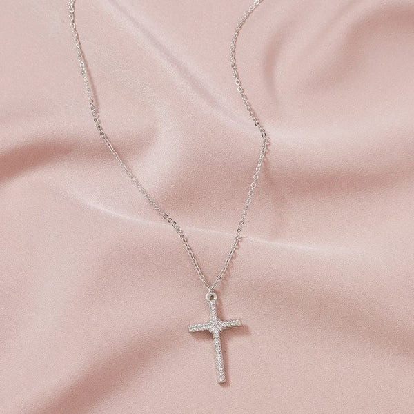 "The ""Woven Cross"" Necklace"