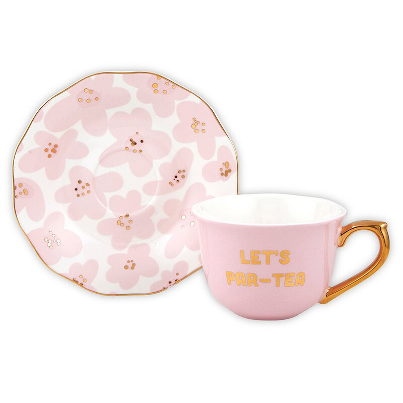 "The ""Let's Par-Tea"" Cup and Saucer"