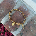 "The ""Rosary is the Way"" Gold Bracelet"