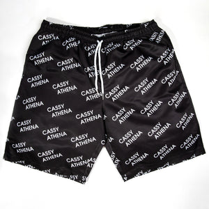 West Coast Black Allover Print shorts