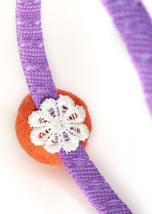 Mandarin / Purple lace