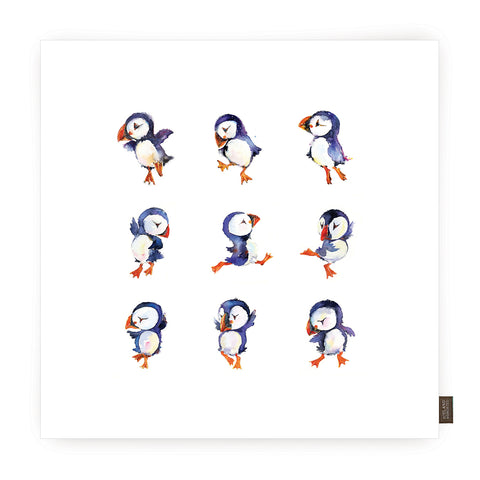 Cushion cover - Puffin dance