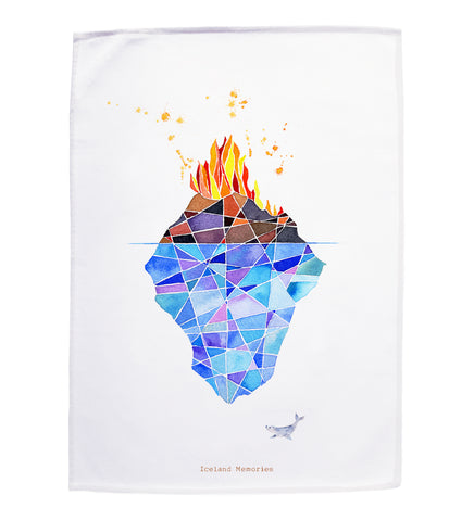 Tea towel - Fire and ice