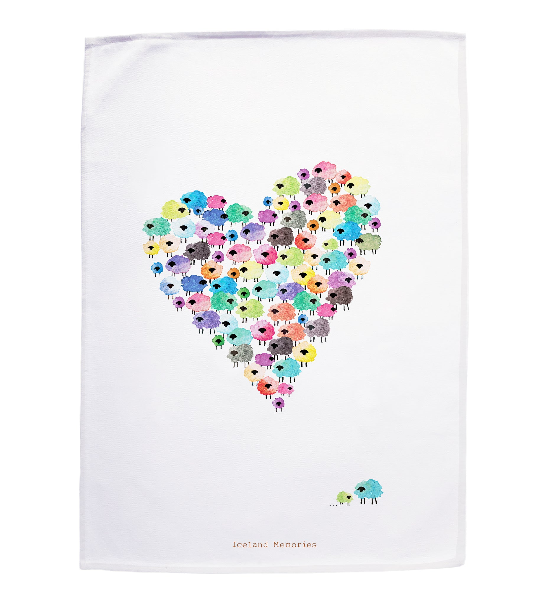 Tea towel - Flock of love