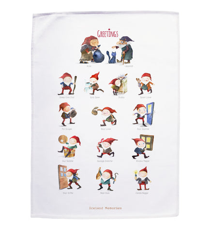 Tea towel - Yule lads