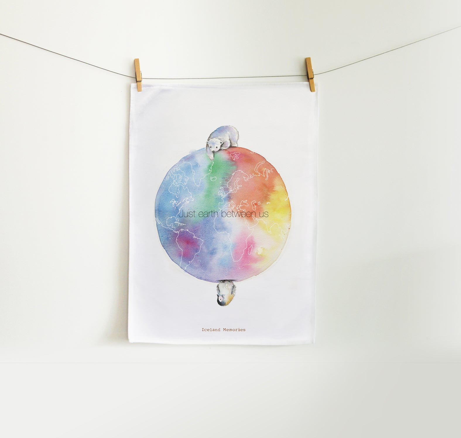 Tea towel - Just earth between us